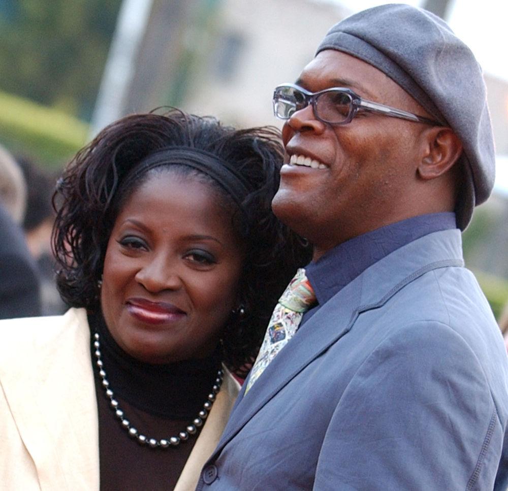 L'attore americano Samuel L. Jackson e sua moglie Latanya Richardson.