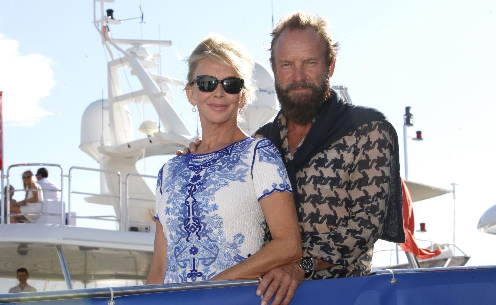 Il cantante britanico Sting e sua moglie Trudie Styler.