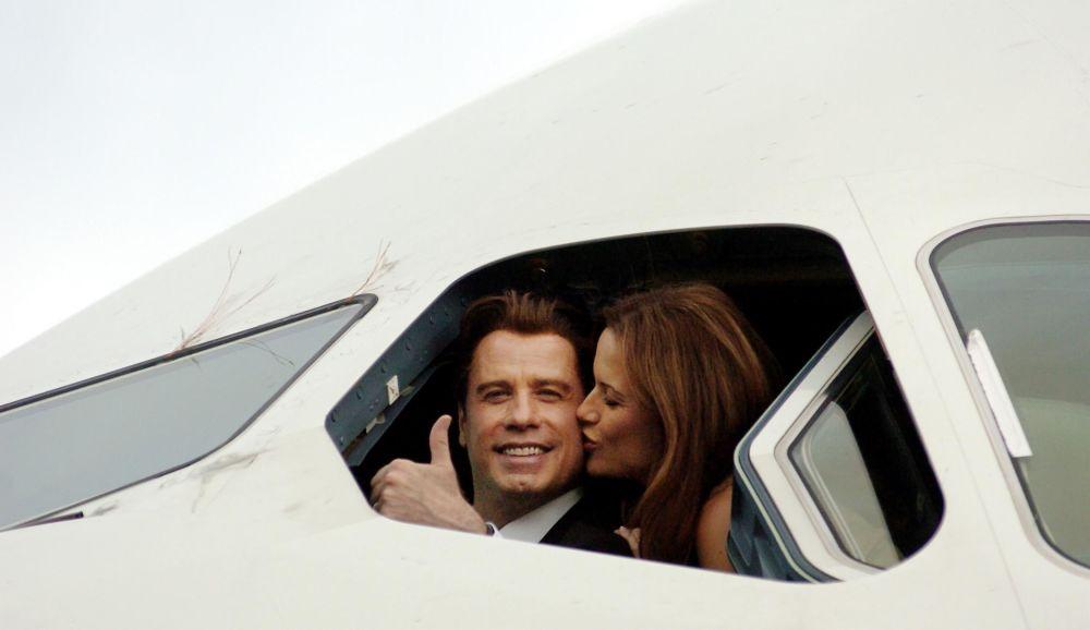 L'attore americano John Travolta e sua moglie Kelly Preston.