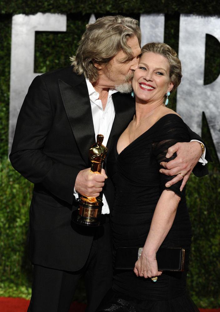 L'attore americano Jeff Bridges e sua moglie Susan Geston.