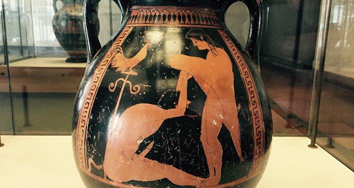 Vaso etrusco dal Museo di Tarquinia