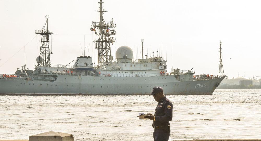 Nave di ricognizione della Marina Militare russa Viktor Leonov (foto d'archivio)