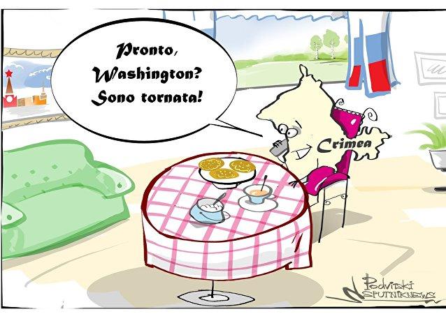 Crimea telefona a Washington