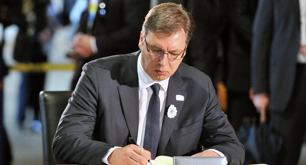 Premier della Serbia Aleksandar Vucic