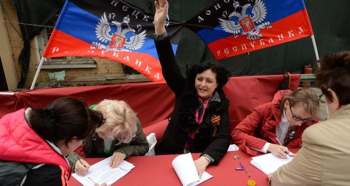 Donbas al voto.