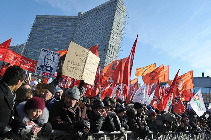 Proteste a Mosca nel 2012.