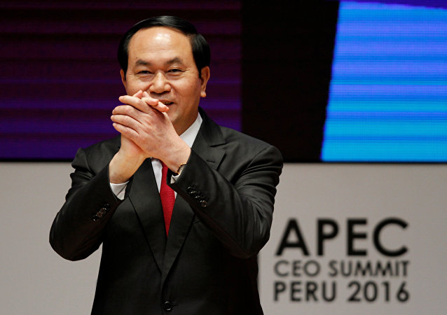Il presidente del Vietnam Trần Đại Quang