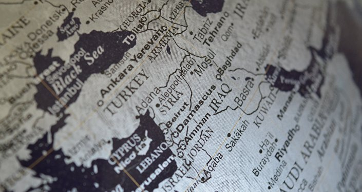 La mappa del Medio Oriente