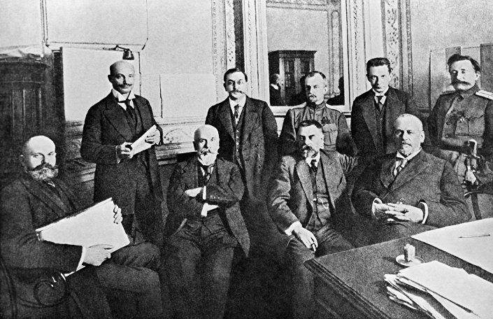 Il comitato temporaneo della Duma di Stato, 1917.