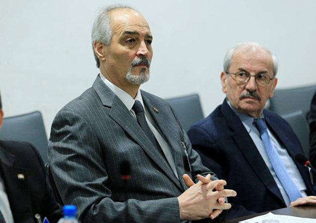 Bashar al Jaafari, rappresentante del governo siriano ai negoziati di Ginevra