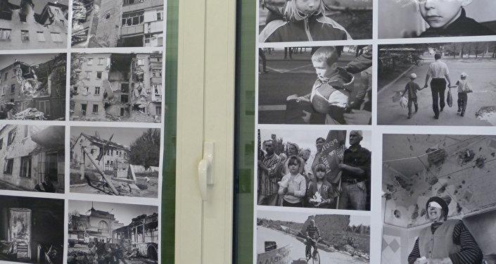 Mostra a Verona dedicata ai bambini vittime della guerra nella Repubblica di Donetsk.