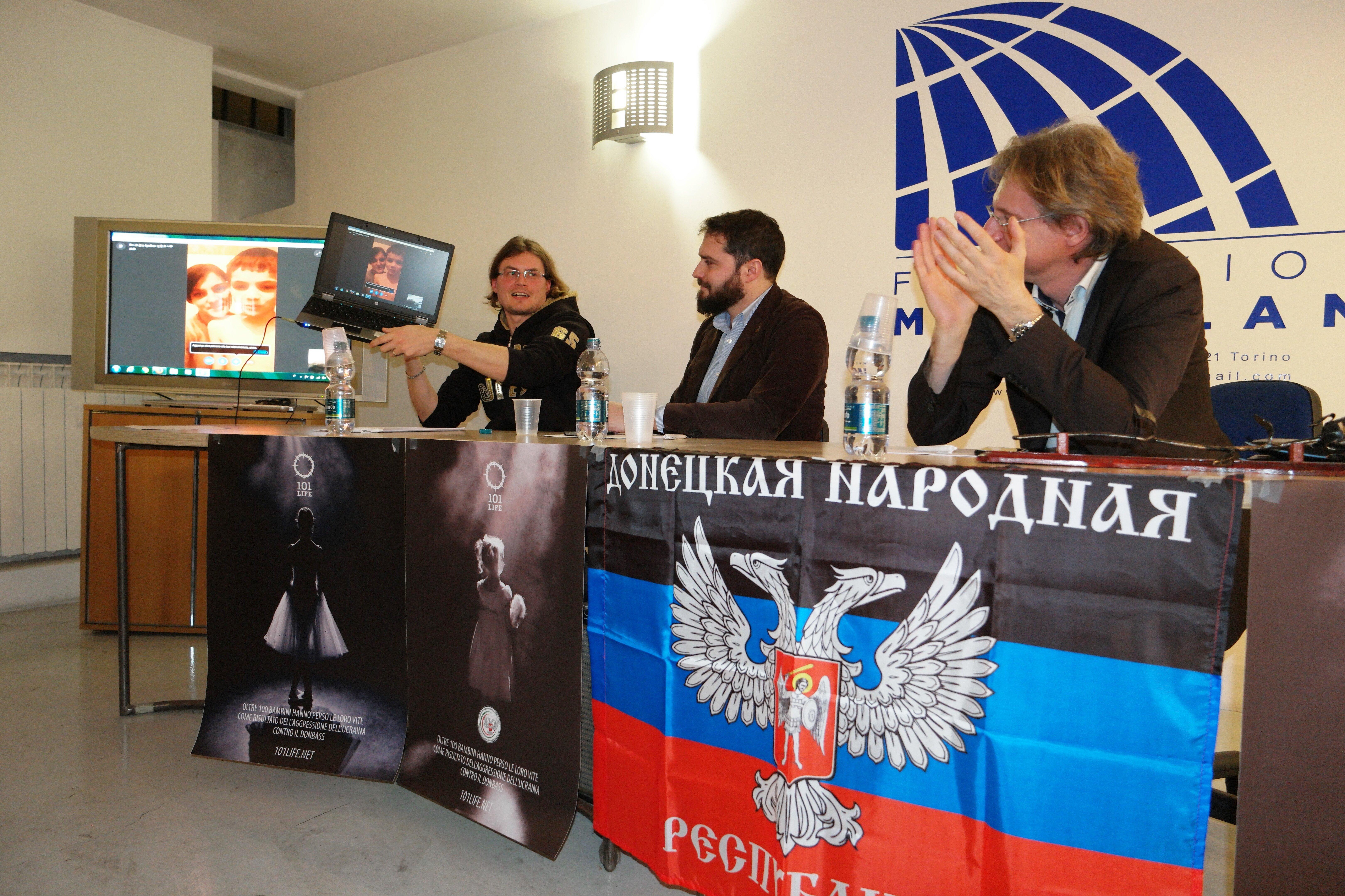 Mostra a Torino dedicata ai bambini vittime della guerra nella Repubblica di Donetsk.