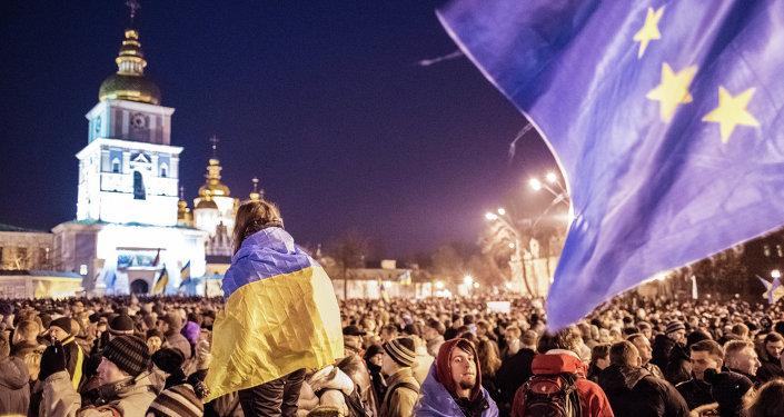 Manifestazione europeista a Kiev (foto d'archivio)