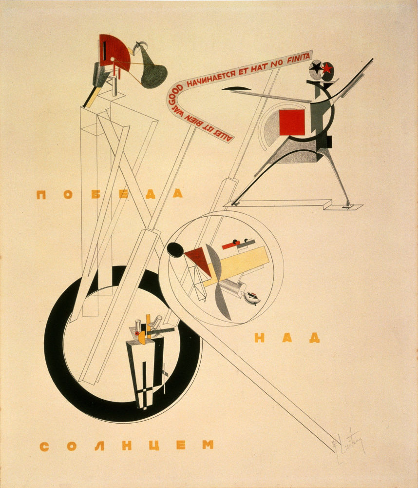 La mostra è divisa in accordo con i temi principali della vita sovietica: collettivizzazione, urbanistica, aviazione, mezzi di comunicazione, industrializzazione e tempo libero.