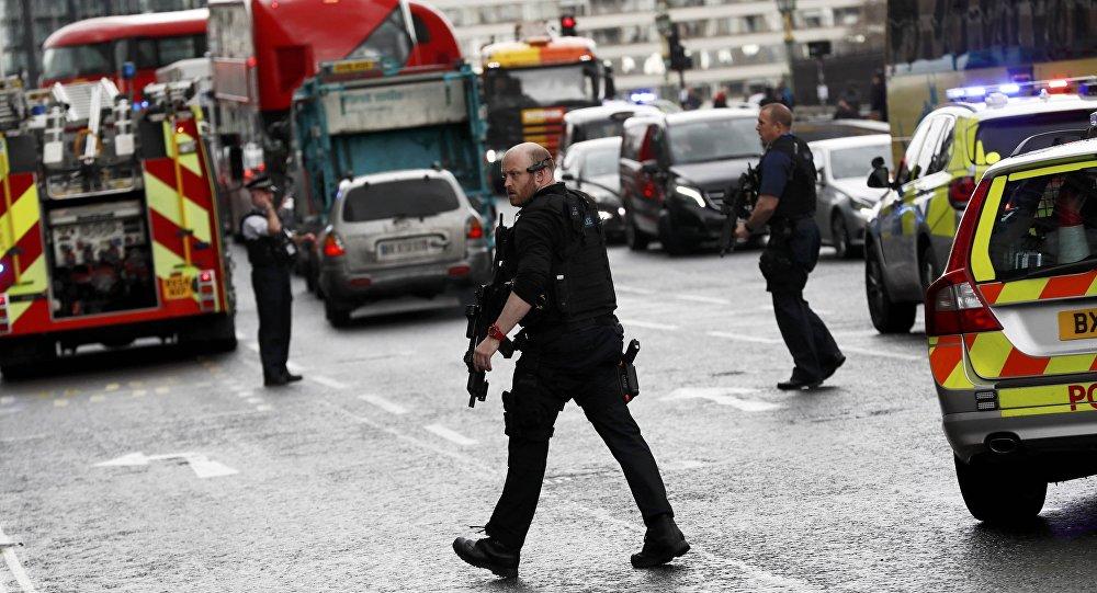 La polizia a Westminster
