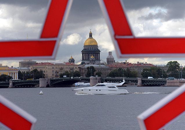 Veduta di San Pietroburgo
