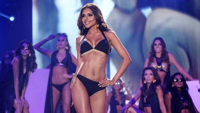 Miss Cartagena Laura Conzalez durante il finale del concorso Miss Colombia 2017 a Cartagena de Indias.