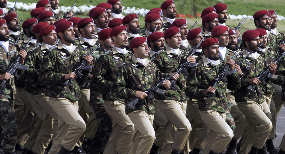 Pakistani commandos from the Special Services Group march during a military parade to mark Pakistan's Republic Day in Islamabad.