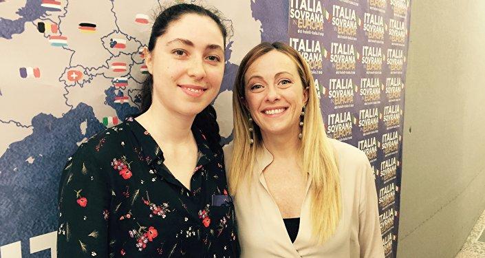 Tatiana Santi con Giorgia Meloni