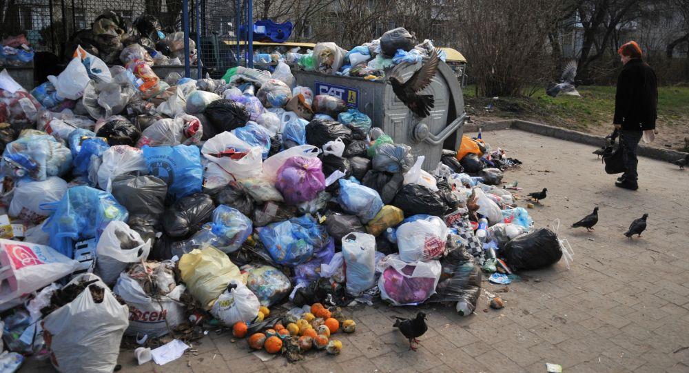Immondizia sulle strade a Lvovo (Leopoli)