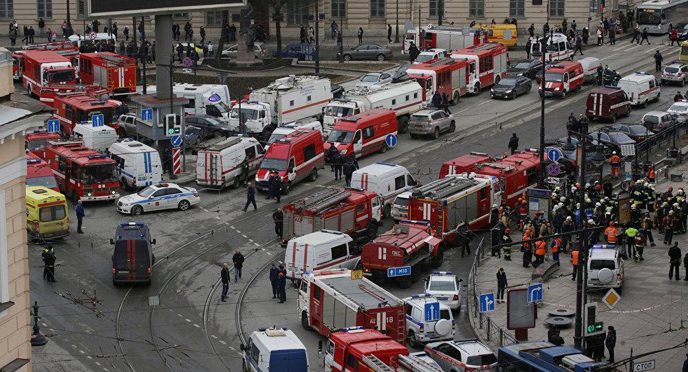 San Pietroburgo, soccorsi nei pressi della stazione della metropolitana Sennaya Ploshad