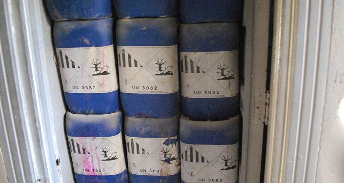 Sostanze chimiche trovate in una fabbrica di armi ad Aleppo