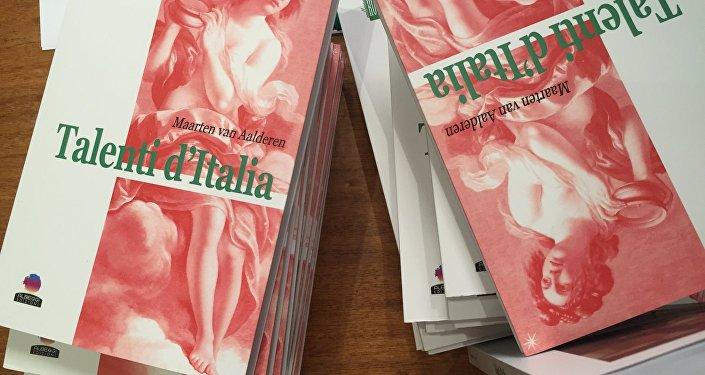 La copertina del libro Talenti d'Italia da Maarten van Aalderen