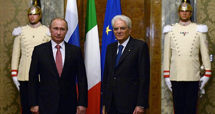 La conferenza stampa di Vladimir Putin e Sergio Mattarella