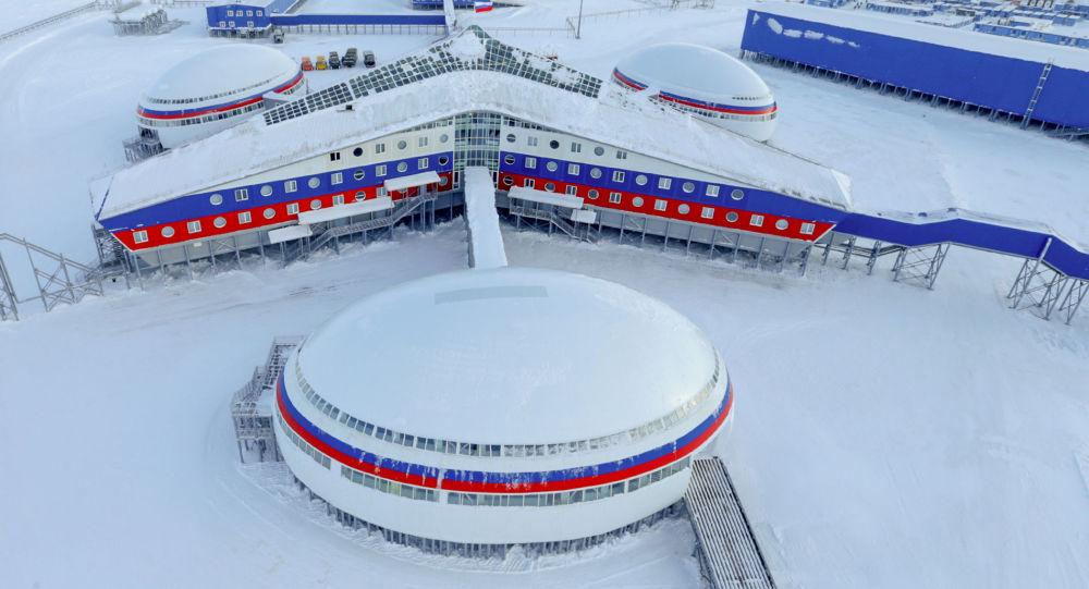 Base militare russa nel circolo polare artico (Terra di Francesco e Giuseppe) Arctic Trilistnik
