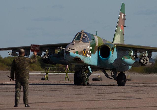 Caccia Su-25 delle forze aeree della Bielorussia