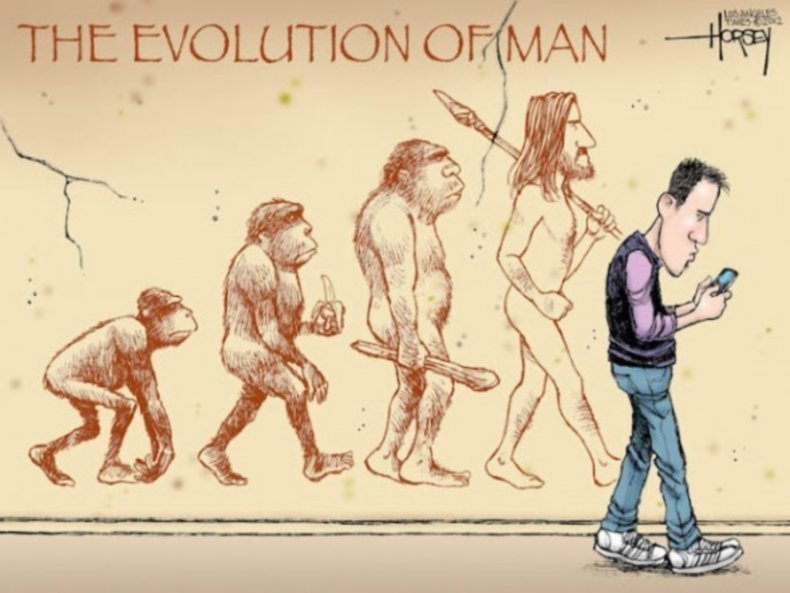 L'evoluzione dell'uomo, vista con ironia
