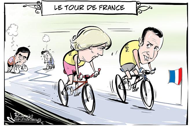 Le Pen e Macron alle elezioni presidenziali.