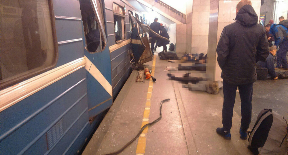 Esplosione nella metro di Pietroburgo