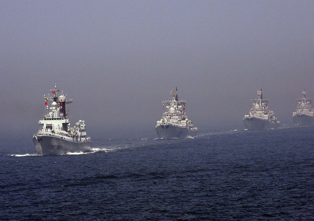 La flotta cinese nel Mar Giallo (foto d'archivio)