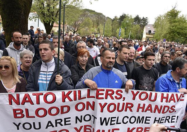 Protesta Anti-NATO dell'opposizione montenegrina