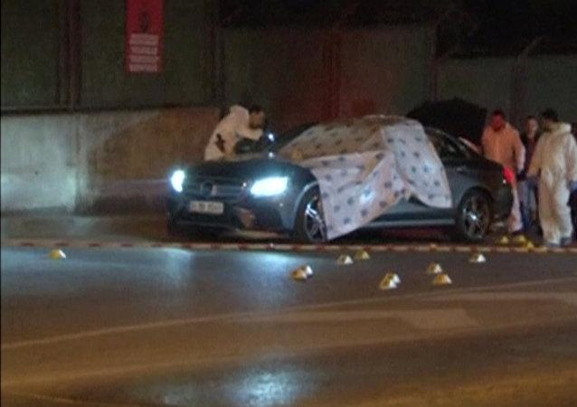 LA macchina nel quale è stato ucciso Karimian