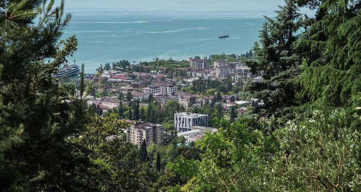 Veduta di Sukhum dall'alto