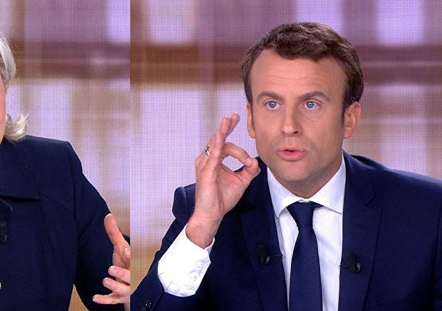 Dibattito in tv tra Marine Le Pen e Emmanuel Macron