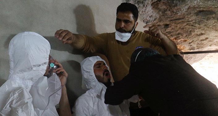 Messa in scena attacco armi chimiche Idlib