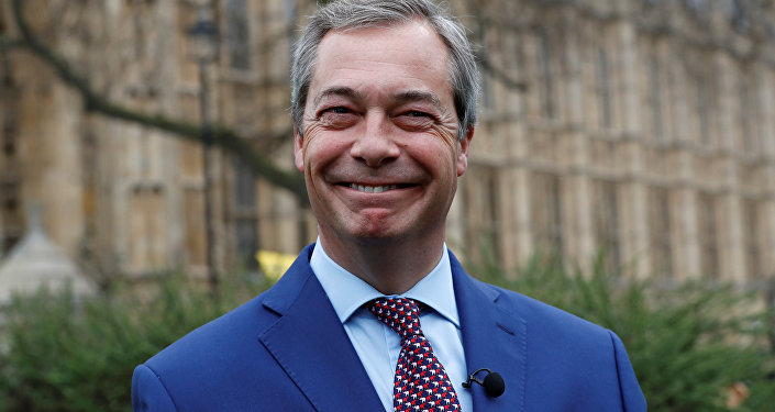 Nigel Farage, former leader of UKIP and anti-EU campaigner stands outside the Houses of Parliament, in London, Britain March 29, 2017.