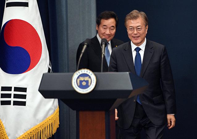 Il presidente della Corea del Sud, Moon Jae-in