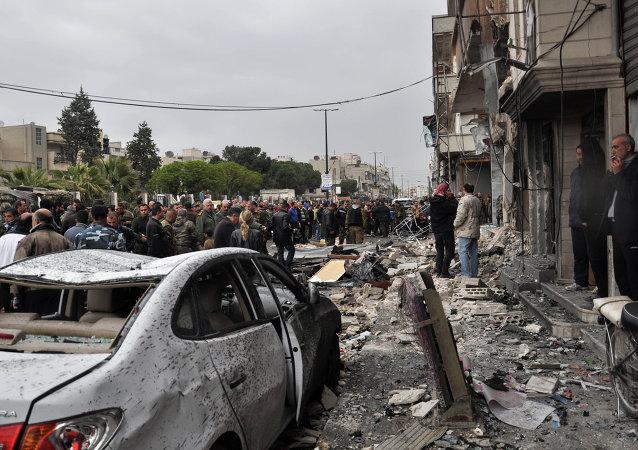 Dopo esplosione di un'autobomba