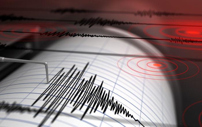 Sismografo registra un terremoto