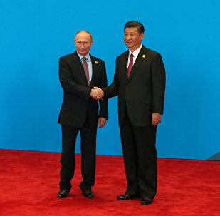 Xi Jinping a Vladimir Putin a Pechino, Cina