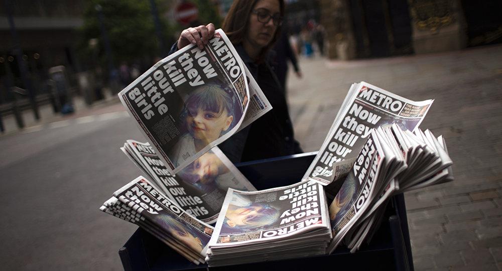 Giornali riportano l'attacco a Manchester