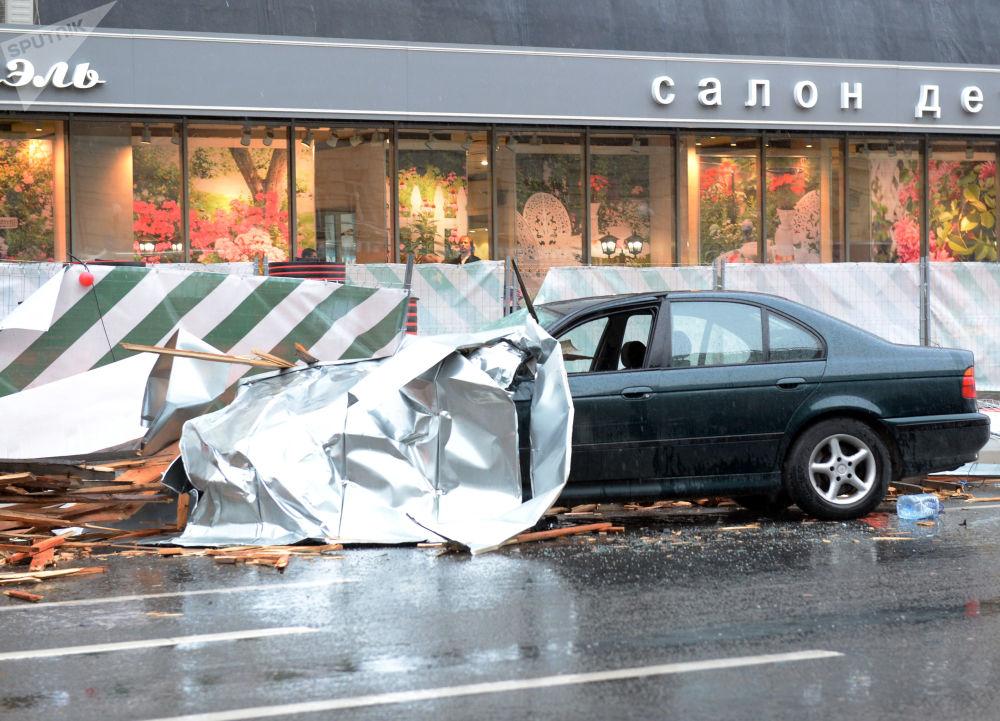 I danni dell'uragano a Mosca.