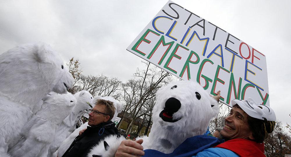 Manifestazioni contro il riscaldamento globale a Parigi (foto d'archivio)