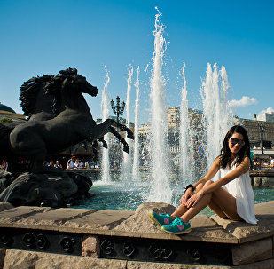 Una turista a Mosca