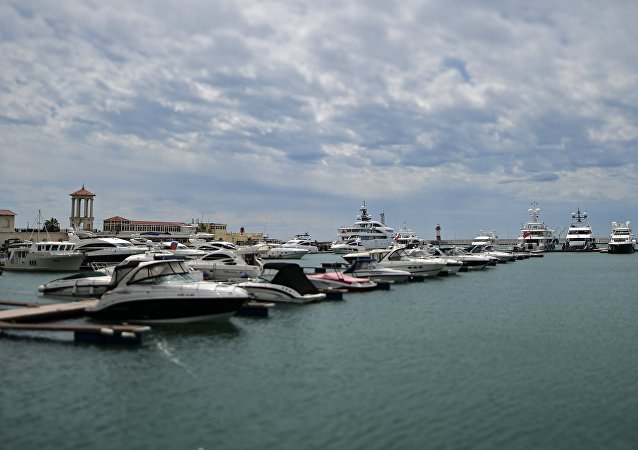 Yachts in the Sochi port.
