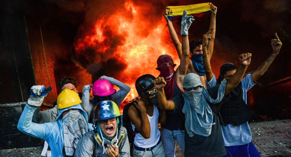 Proteste antigovernative a Caracas (foto d'archivio)